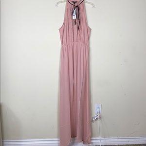 Maxi Nude Pink Dress.